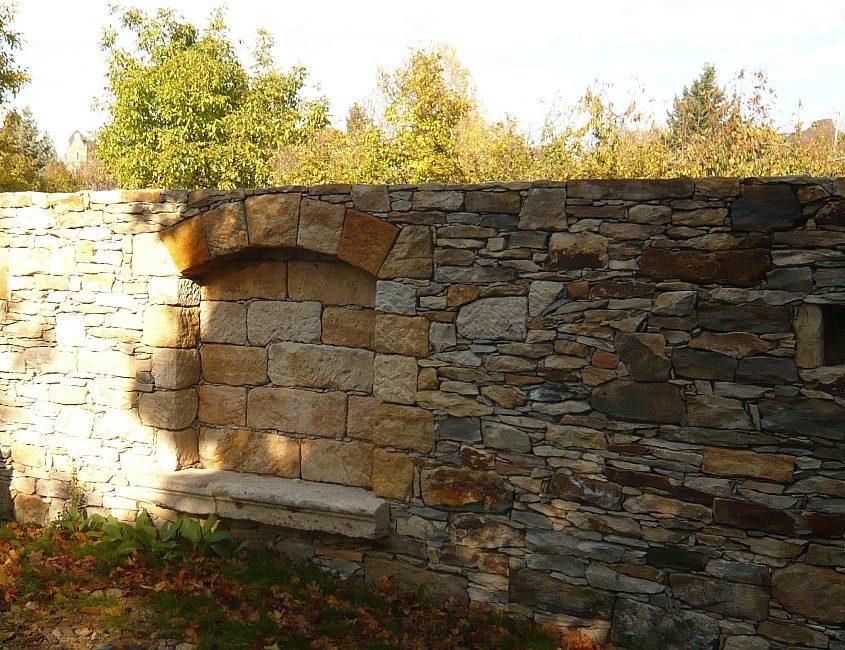 Gartenmauer Sandstein