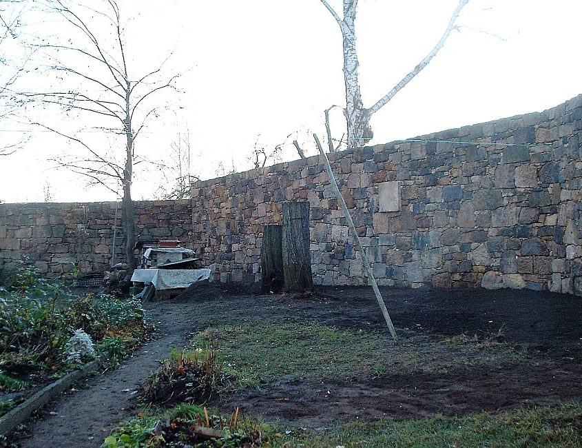 Sanierung Sandsteinmauer